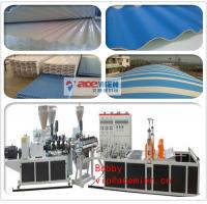Buy cheap ポリ塩化ビニールは機械/ポリ塩化ビニールによってを作る屋根シートを波形を付けられたタイルの生産ライン波形を付けました product