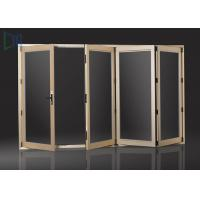 Buy cheap Powder Coating Frame Aluminium Folding Doors With Double Glazing Glass product