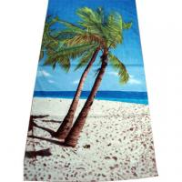 Buy cheap 100% Cotton Fiber Full Reactive Printed Velour Beach Towels product
