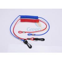 Buy cheap Red / Blue Jet Ski Safety Lanyard Cut - Out  Cord For Watercraft 3.5MM product