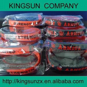 chaque bracelet de silicone de paquet d'opp