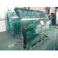 Buy cheap Low Emissivity curved tempered safety glass buildings with flat edge product
