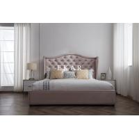 Buy cheap Foshan Furniture Modern Blud Fabric Queen Size Bed Designs product