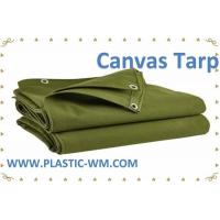 China Green Color Polyester Tarpaulin Cotton Tarpualin Canvas Tarp Canvas Tarpaulin on sale