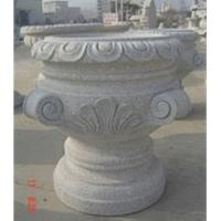 Buy cheap Grey Granite Flowerpot, Exquisite Grey Garden Stone product