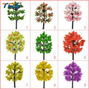 Buy cheap árboles coloful multy del modelo de escala de la arquitectura de la altura de los colores los 4cm-12cm para la disposición de fabricación modelo del tren product