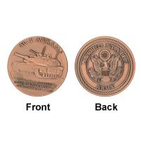 Buy cheap Patton ARMY M - 1 Tank Commemorative Coins Round For Collection product