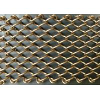 Buy cheap Beautiful Metal Mesh Drapery Flame Resistant For Room Divider / Decoration product