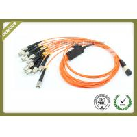 Buy cheap Orange Color Optical Fiber Jumper 12 Core 0.10dB Reability For Medical Sensing System from wholesalers