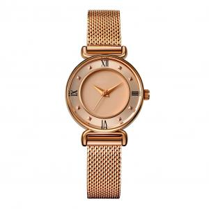 Buy cheap IP Rose Gold Waterproof 28mm Alloy Quartz Watch Ladies Mesh Band product