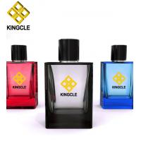 Buy cheap Custom made square 30ml 50ml 100ml glass perfume bottle with spray cap from wholesalers