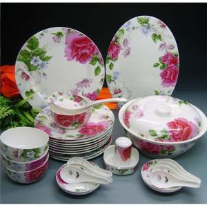 Buy cheap A louça ajustada do grupo de jantar da louça fina da porcelana de osso ajusta grupos de jantar product