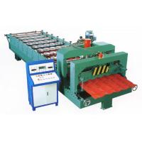 China Green Color Glazed Tile Roll Forming Machine With 3 - 6m / Min Processing Speed on sale