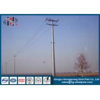 Quality 69KV Hot Dip Galvanized Electric Steel Tubular Pole for Electrical Line for sale