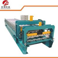 Buy cheap Metal Lathe Processed Glazed Tile Roll Forming Machine 10-15 M/Min Speed product