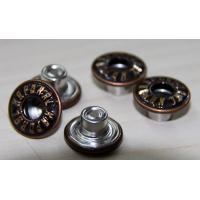 China Nickle Free Custom Clothing Buttons Plated With Embossed Logo on sale