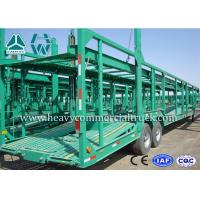 Buy cheap Double Axles Single Car Carrier Semi Trailer High Tensile Steel Q345B product