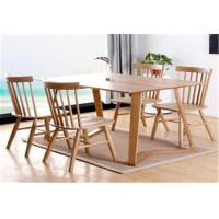 China Funky Wooden High Back Dining Chairs , Recliner Contemporary Light Oak Kitchen Chairs on sale