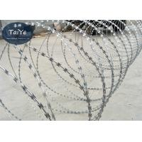 Buy cheap Aluminum Alloy Silver Razor Wire Mesh Fencing Used For Cottage And Society Fence product