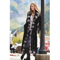 Quality Maertisa Mink Fur Coat with Silver Fox Fur Trim manufacturer wholesale with free shipping by express for sale