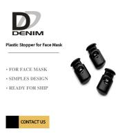 Buy cheap Plastic Stopper for Face Mask Black Elastic Cord Stopper/ Adjustable Toggle product