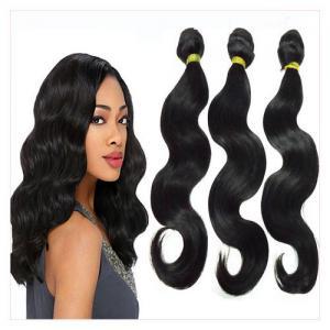 Buy cheap weav naturel vierge bon marché brésilien de cheveux noirs des prolongements 4pcs/lot 100g/3.5oz/bundles de cheveux de vague de corps de cheveux de la catégorie 6A product