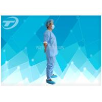 China Disposable Coveralls Waterproof Disposable Gown With Knitted Cuff on sale