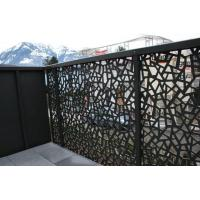Buy cheap Powder Coated Decorative Outdoor metal screen Villa Garden Aluminum panel perforated Fence from wholesalers