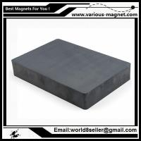 Buy cheap Size:F84X64X14/Ferrite block magnet for magnetic separator with high magnetic induction product