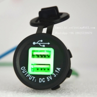 Buy cheap Waterproof DC 12 VOLT Universal adapter dual port usb car charger 3.1a product