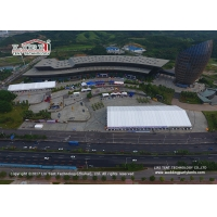 Buy cheap 50x115m Aluminum Frame Exhibition Tent With White PVC Roof Cover For Exhibition product