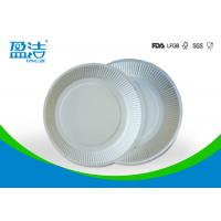 White Color Eco Friendly Paper Plates 6 Inch For Birthday Celebrations