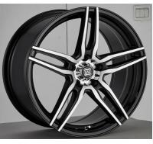 Buy cheap 機械で造られた表面アルミニウムA356 5割れたスポークによって塗られる17のインチのアフター・マーケットの合金の車輪の黒 product