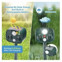 Quality Solar Energy Mobility Portable Ultrasonic Animal Defender Outdoor Camping Anti for sale