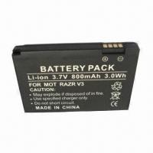 China Mobile Phone Battery with 800mAh Capacity, Suitable for Motorola RAZR V3, RAZR V3i, RAZR on sale