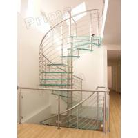 Buy cheap Prefabricated Stainless Steel Glass Staircase product
