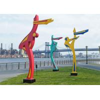 Buy cheap Outdoor Dancing Figure Sculpture Painted Metal Sculpture for Public Park from wholesalers