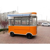 Buy cheap Four-Wheel Snack Car  Slung hot dog food cart new mobile food trailer hamburgers carts for sale Mobile Food Cart product