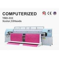 Buy cheap Tricolor Computerized Embroidery Machine , Automatic Quilting Machine Easy Operation product