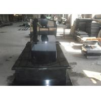 Buy cheap Black Granite Memorial Headstones For Tombstone Polished Surface Finish product