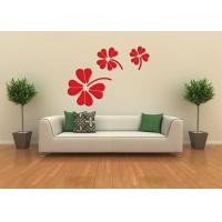 Buy cheap JY-02 3D Flower Design Removable Wall Stickers Acrylic ,Self-adhesive Wall Mirror  Sticker product