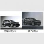 Buy cheap Custom Car Portraits , Oil Portraits From Photographs Range Rover Car product