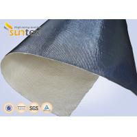 China 14 microns Aluminum Foil Fiberglass Cloth Fire Insulation Blanket Glass Fiber Fabric on sale