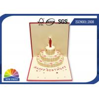 Buy cheap Customized 3D Festival Greeting Cards Happy Cake for Birthday Pop Up Card product