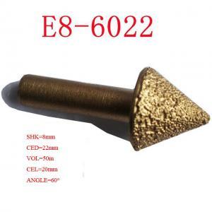 End Milling CNC Engraving Tool Bits , Vacuum Brazed Diamond Tools 3D 120 Degree