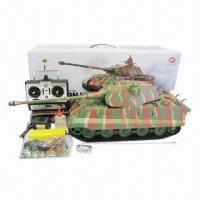 Buy cheap 1/16 RC King Tiger Tank with Smoke and Sound Functions and Infrared Control Version product