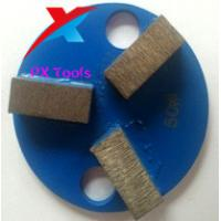 Buy cheap 80mm 3 segment diamond metal pads for polishing marble,granite and concrete and from wholesalers