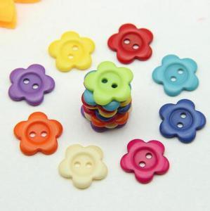 Buy cheap 組合せによって着色される樹脂の花ボタン product