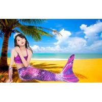 Buy cheap Purple Pink Childrens Mermaid Tails Comfortable Fade Resistant Fabric Mermaid Swimsuit product