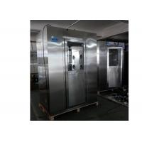 Buy cheap Standard Stainless Steel Vertical Air Shower Room With Top Side Air Flow product